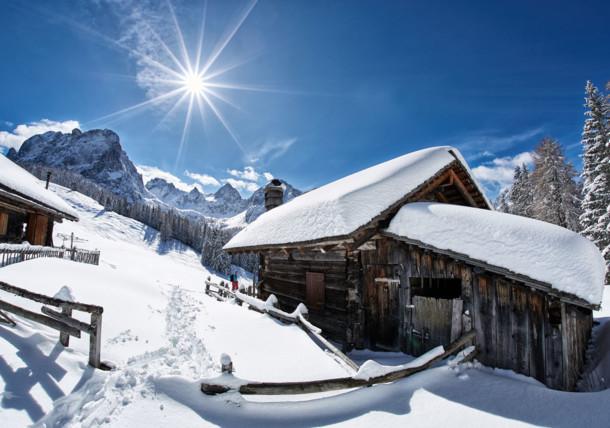 Winter landscape in East Tirol