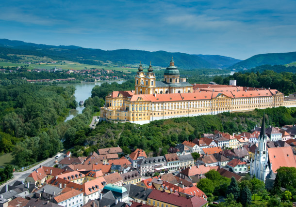 The spectacular Melk Abbey