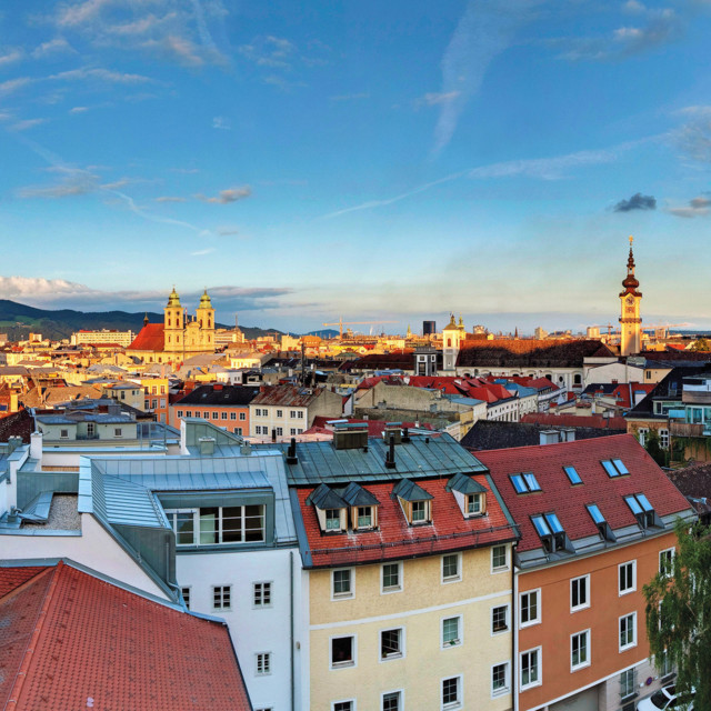 Panorama über Linz