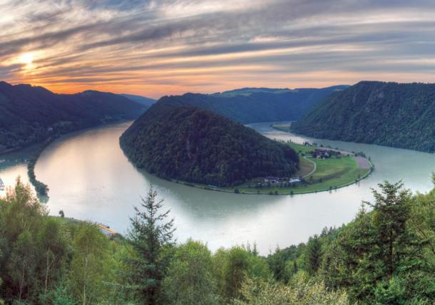Schlögenská smyčka v Horním Rakousku