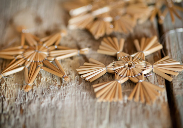 Christmas decorations - straw stars