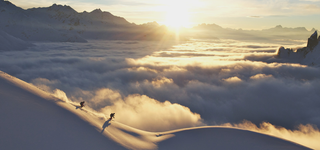 skiing in the ski area Lech-Zürs Arlberg