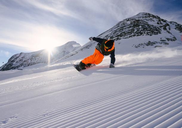 Катание на сноуборде в Целль-ам-Зее