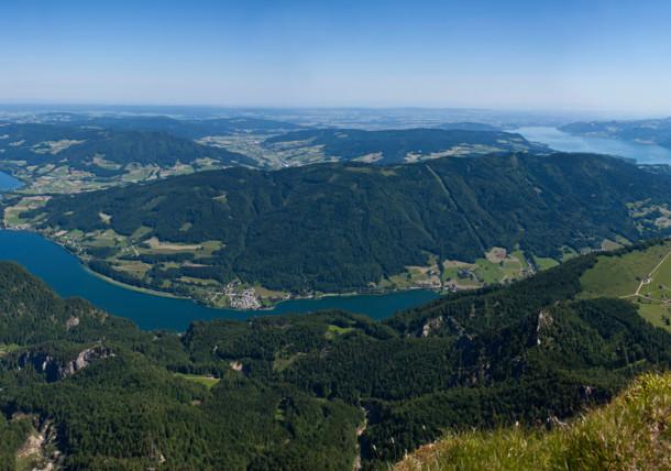 Výhled z hory Schafberg