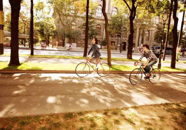 Cycling on Vienna's Ringstrasse