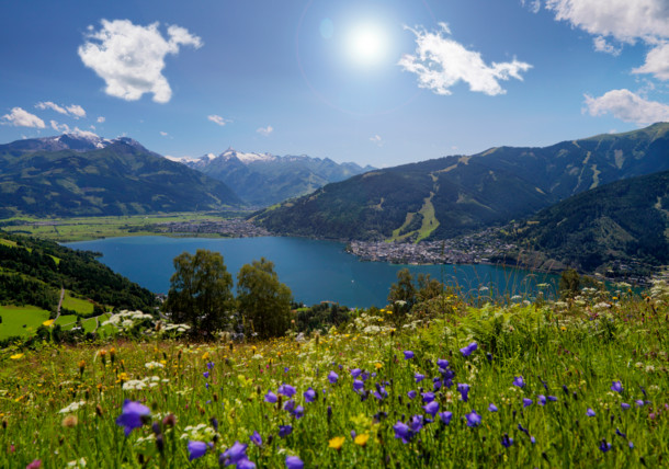 Lake Zell with crystal clear water