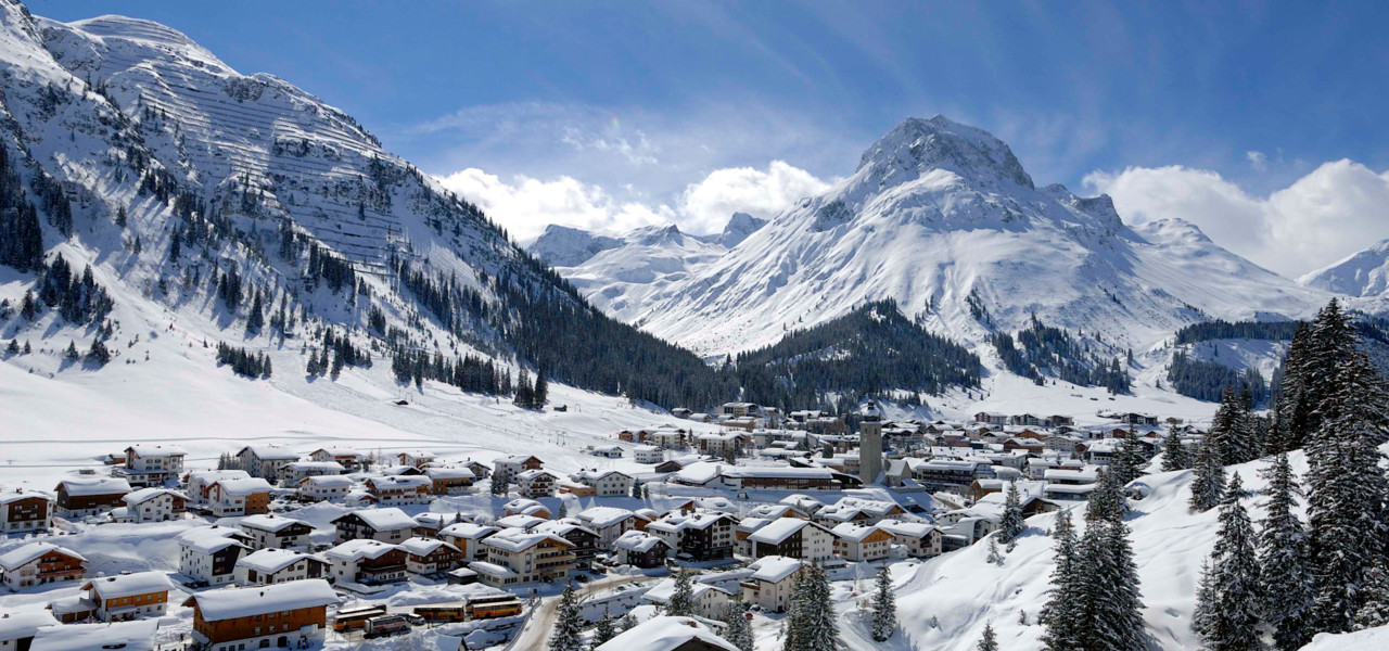 view to the village Lech am Arlberg