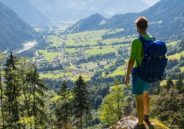 Blick auf Braz im Klostertal
