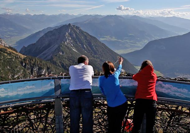 V pohoří Rofan: Vyhlídková plocha Adlerhorst