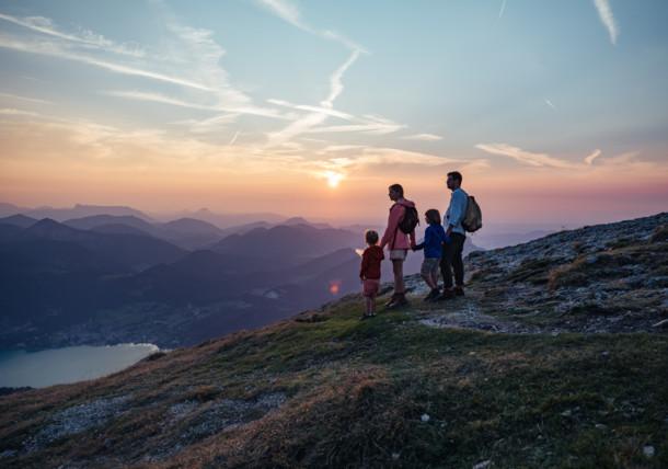 Západ slunce na Schafbergu