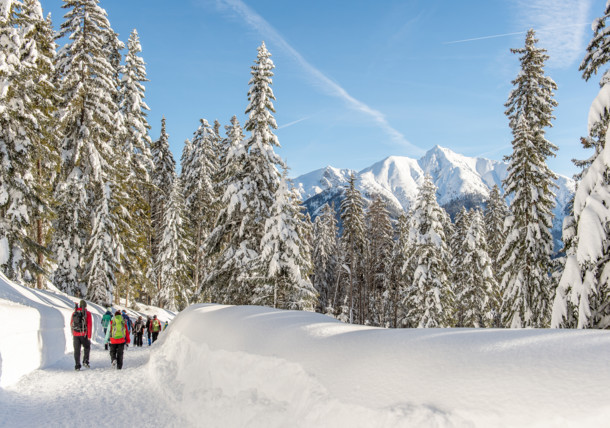 Winterweitwandern in der Olympiaregion