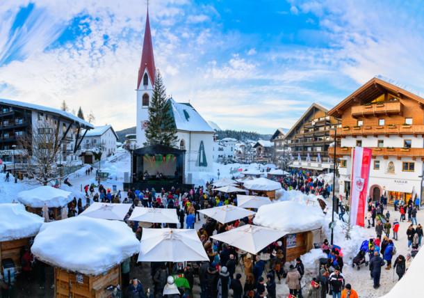 Dorfplatz Seefeld beim Schneefest