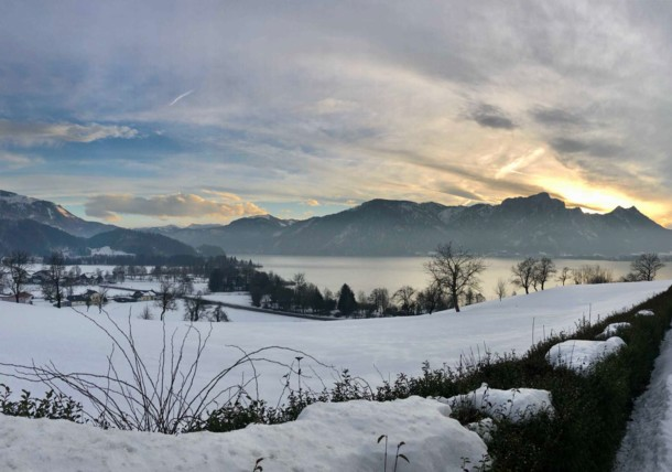 Mondsee in Winter