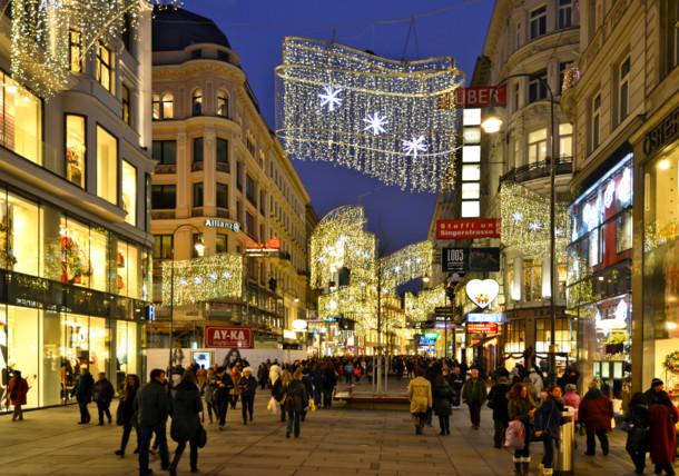 Kärntnerstraße zur Weihnachtszeit
