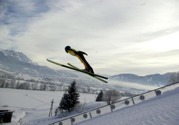 Skispringen Skisprungschanze Saalfelden