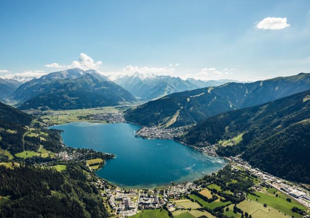 Zell am See-Kaprun from above