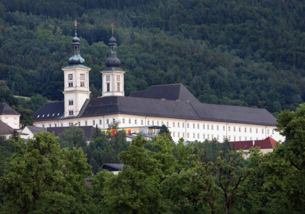 Exterior view Schlierbach Abbey, Upper Austria
