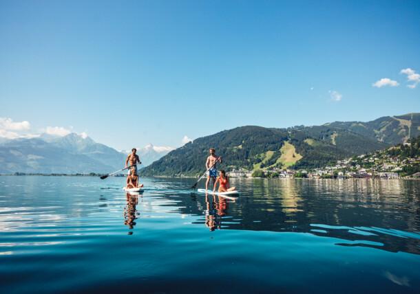 Stand-up paddling at Lake Zell