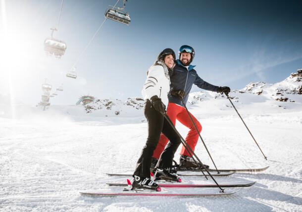 Lyžování v lyžařském středisku Obergurgl Hochgurgl