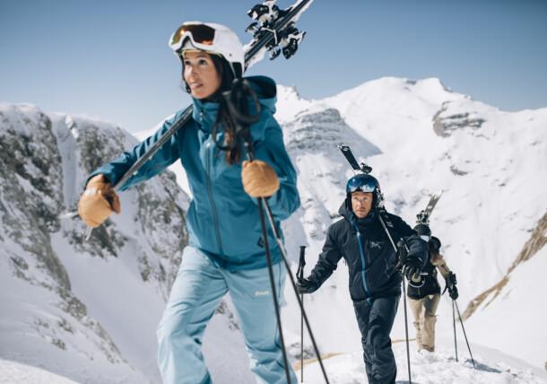 Skifahrer in Lech Zürs
