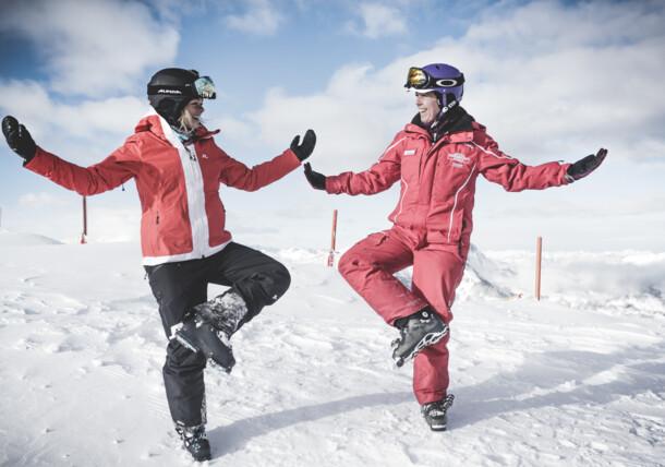 zabawa na stokach narciarskich, Gastein