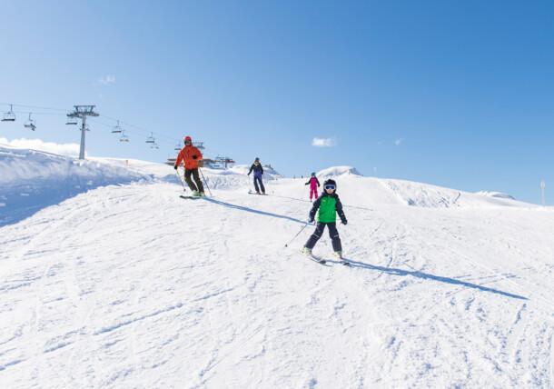 Skifahren am Sonnenkopf im Klostertal