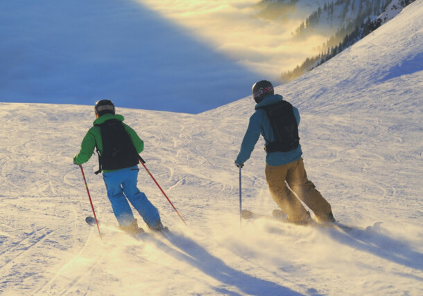 Schifahrer am Arlberg / Vorarlberg