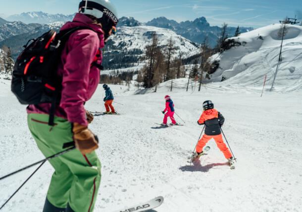 Zábava s dětmi na sněhu