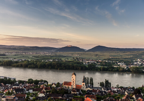 View over Krems and the Danube