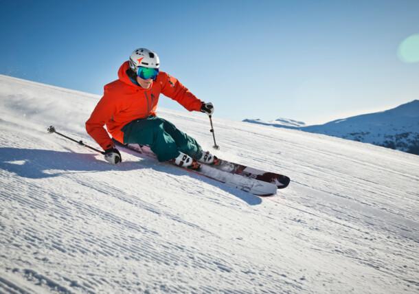 Saalbach winter ski piste
