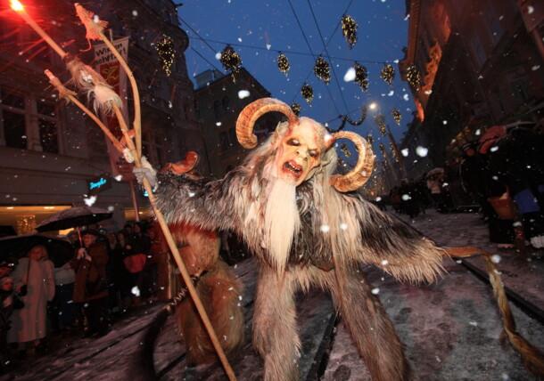 Krampuslauf in Graz (devil parade)
