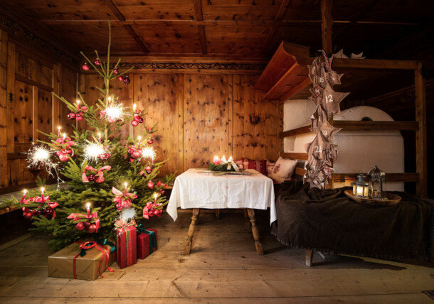 Christmas Eve in a traditional farmhouse